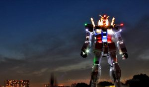 59 foot tall robot sculpture in Tokyo, Japan